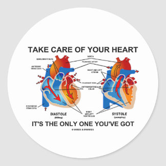 Take Care Of Your Heart It's Only One You've Got Stickers