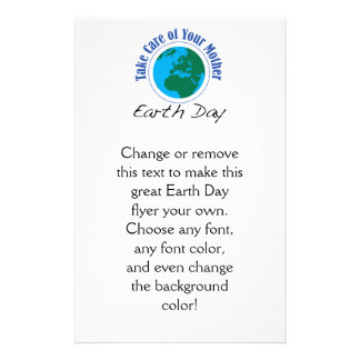 Take Care of Your Mother - Earth Day Flyer