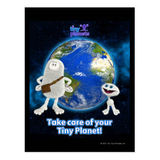 Take Care of Your Tiny Planet Postcard