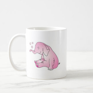 Take Care Pink Elephant Coffee Mug