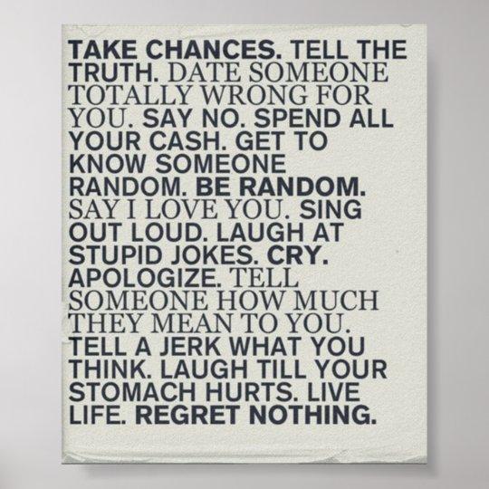Take Chances Poster