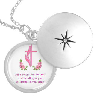 take delight in the Lord Locket Necklace