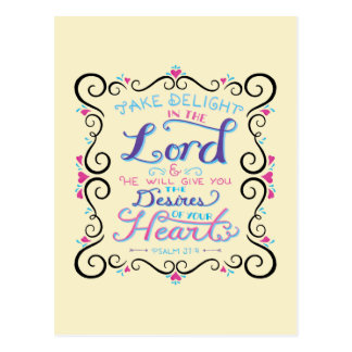 Take Delight in the Lord Postcard