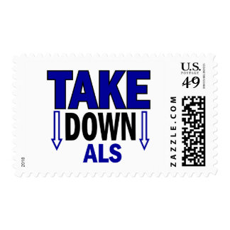 Take Down ALS 1 Postage Stamps