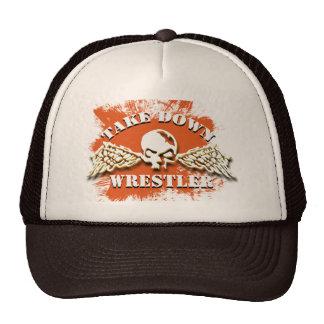TAKE DOWN SKULL WINGS TRUCKER HAT