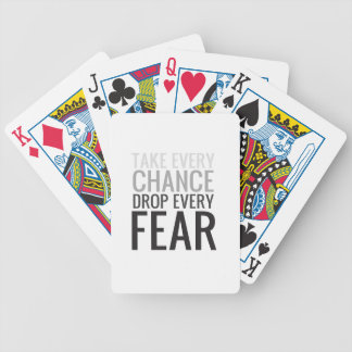 TAKE EVERY CHANCE GRAY BICYCLE POKER CARDS