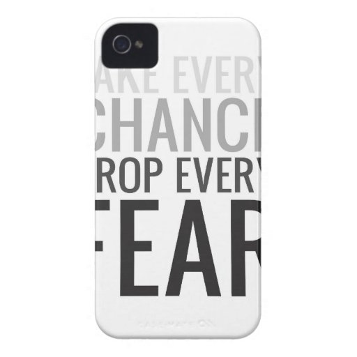 TAKE EVERY CHANCE GRAY iPhone 4 Case-Mate CASES