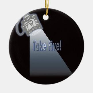 Take Five! Christmas Ornament