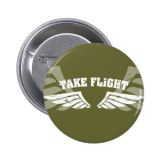 Take Flight Aviation Wings 2 Inch Round Button