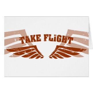 Take Flight Aviation Wings Greeting Card