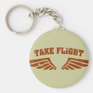 Take Flight Aviation Wings Basic Round Button Keychain