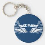 Take Flight Aviation Wings Keychains