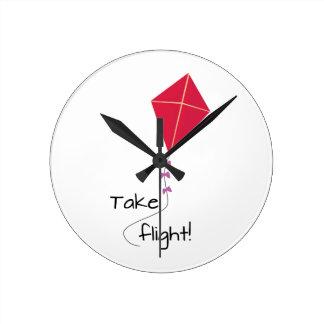 Take Flight! Round Wallclock