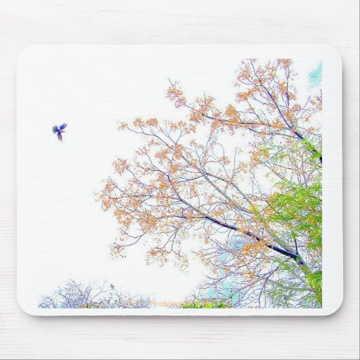 TAKE FLIGHT IN THE WOODS MOUSE PAD