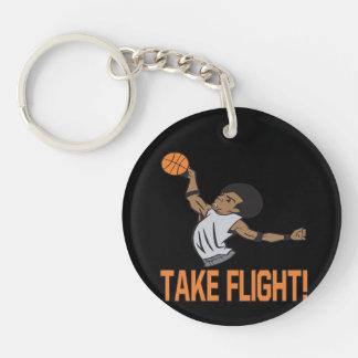 Take Flight Double-Sided Round Acrylic Keychain