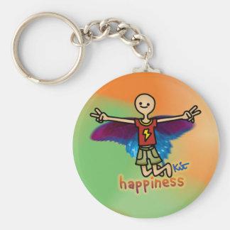 take flight. basic round button keychain