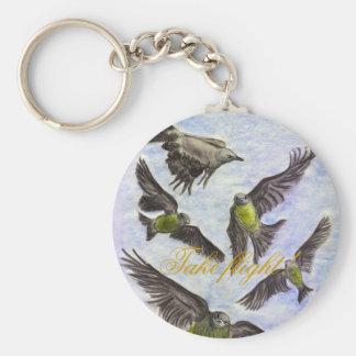 Take flight! basic round button keychain