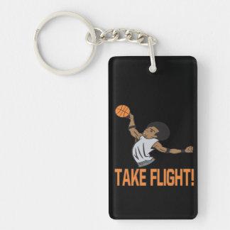 Take Flight Double-Sided Rectangular Acrylic Keychain