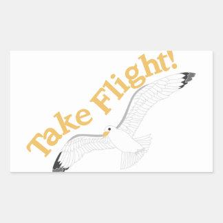 Take Flight Rectangular Sticker