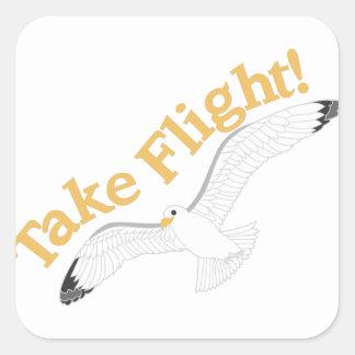 Take Flight Square Sticker