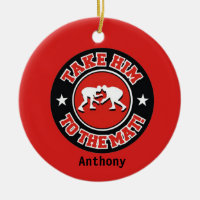 Take Him To The Mat! Wrestling Christmas Ornament