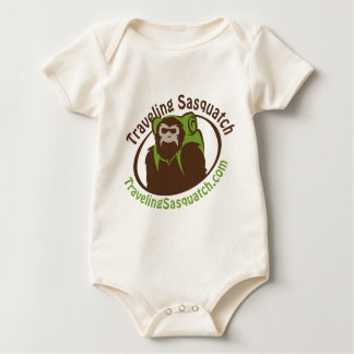 Take home a Traveling Sasquatch! Baby Bodysuit