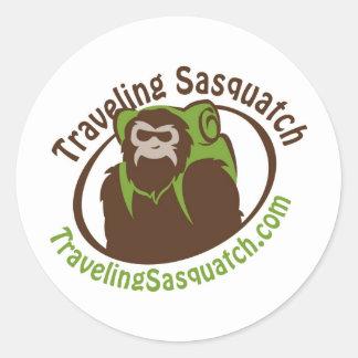 Take home a Traveling Sasquatch! Classic Round Sticker