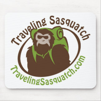 Take home a Traveling Sasquatch! Mouse Pad