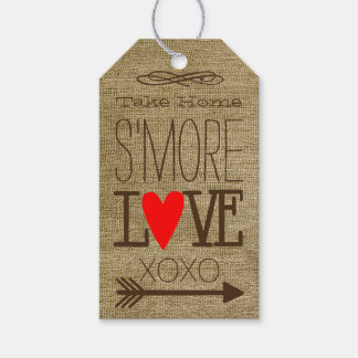 Take Home S'more Love Burlap Guest Favor Gift Tags
