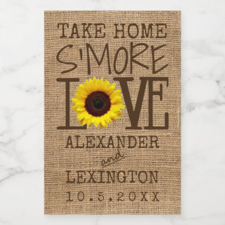 Take Home S'More Love Sunflower Food Label