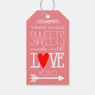 Take Home Sweets Guest Favor Coral Peach Gift Tags