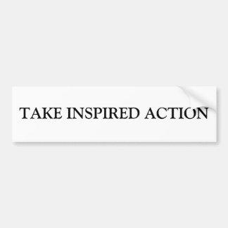 TAKE INSPIRED ACTION BUMPER STICKER