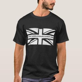 Take it Back flag, women's black t-shirt