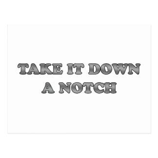 Take It Down A Notch Postcard