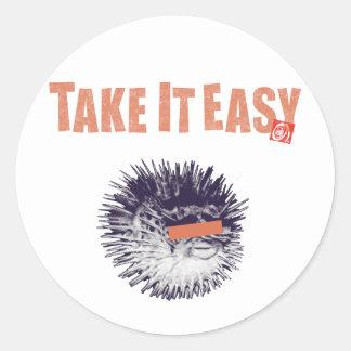 TAKE IT EASY CLASSIC ROUND STICKER