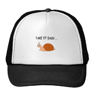 Take It Easy Cute Cartoon Snail Trucker Hat