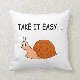 Take It Easy Cute Cartoon Snail Pillow