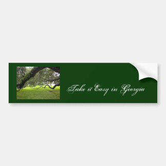 Take it Easy in Georgia Bumper Sticker