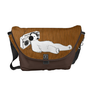 take it easy polar bear stereo messenger bag