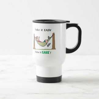 Take It Easy ~ Relaxing In A Hammock 15 Oz Stainless Steel Travel Mug