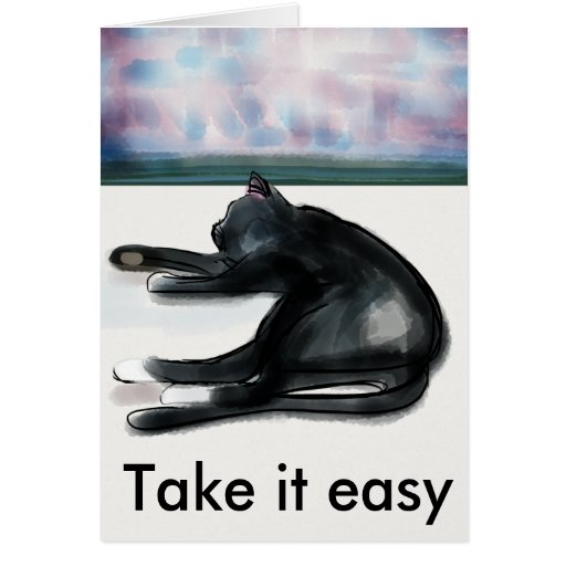 Take it easy - rest and relaxation cards