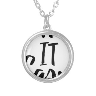 take-it-easy silver plated necklace