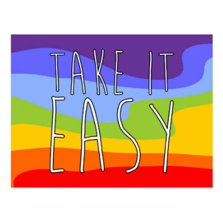 TAKE IT EASY + your background Postcard