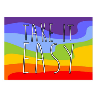 TAKE IT EASY + your background & text Large Business Card