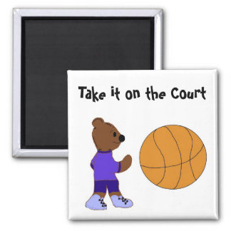 Take it on the Court 2 Inch Square Magnet