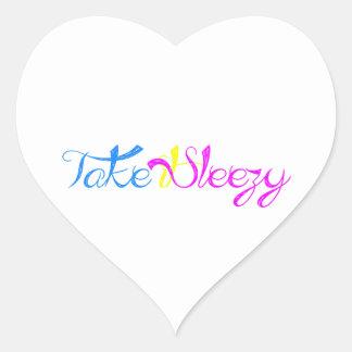 Take it Sleezy! Heart Sticker