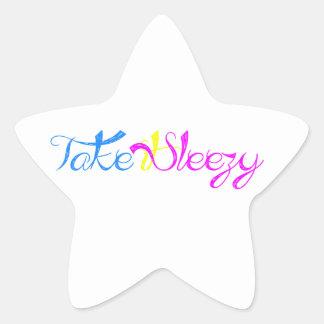 Take it Sleezy! Star Sticker