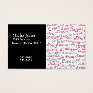 Take It To Heart Motivational Words Business Card