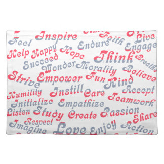 Take It To Heart Motivational Words Cloth Placemat
