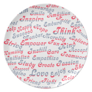 Take It To Heart Motivational Words Dinner Plate